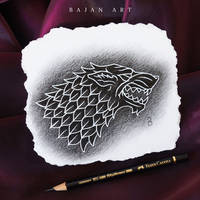 House Stark Drawing - Game of Thrones Art