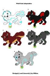 Adoptable wolf cubs by NRfun
