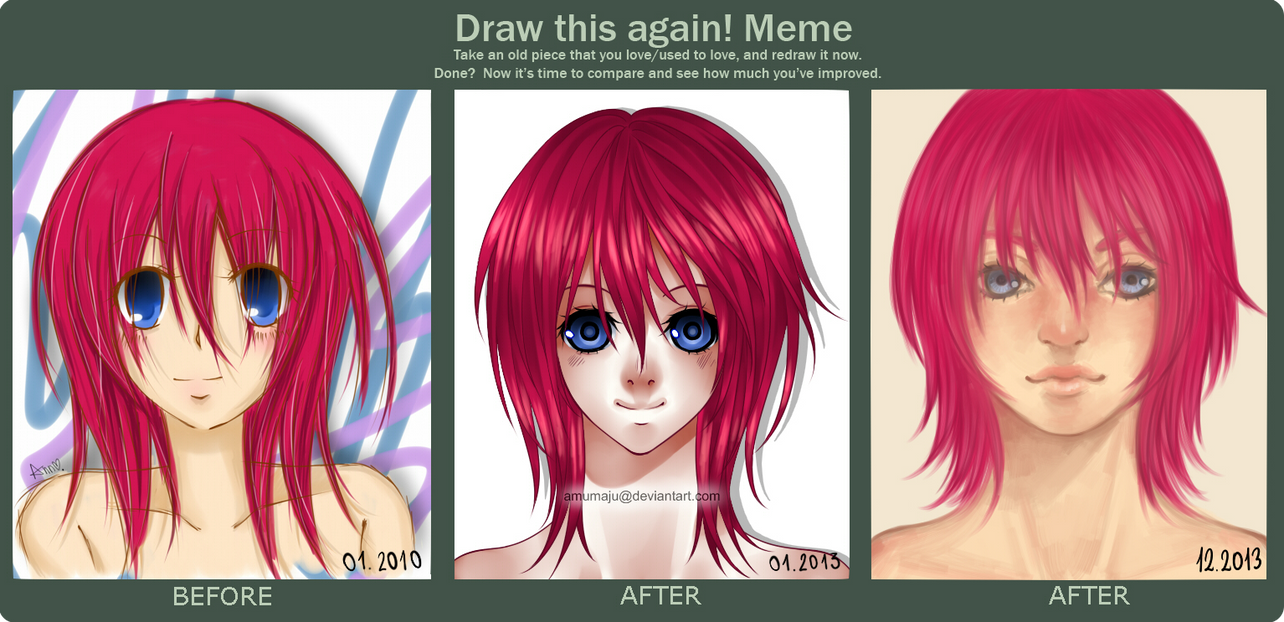 Funny Face Drawings Meme : Draw this again meme by amumaju on deviantart