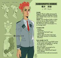 Hideki Hashimoto [BNHA OC Ref Sheet] by amumaju