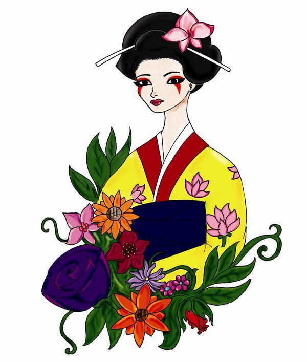 Japanese Geisha Tattoo Designs Gallery 15