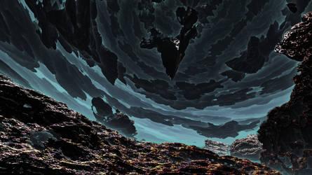Hurricane of fractal stones