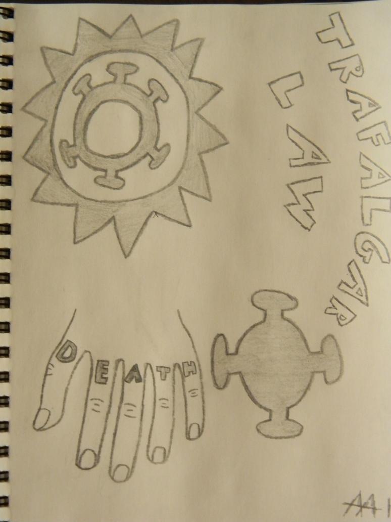 Trafalgar law tattoos by wolfdrappa95 on deviantart for One piece law tattoos