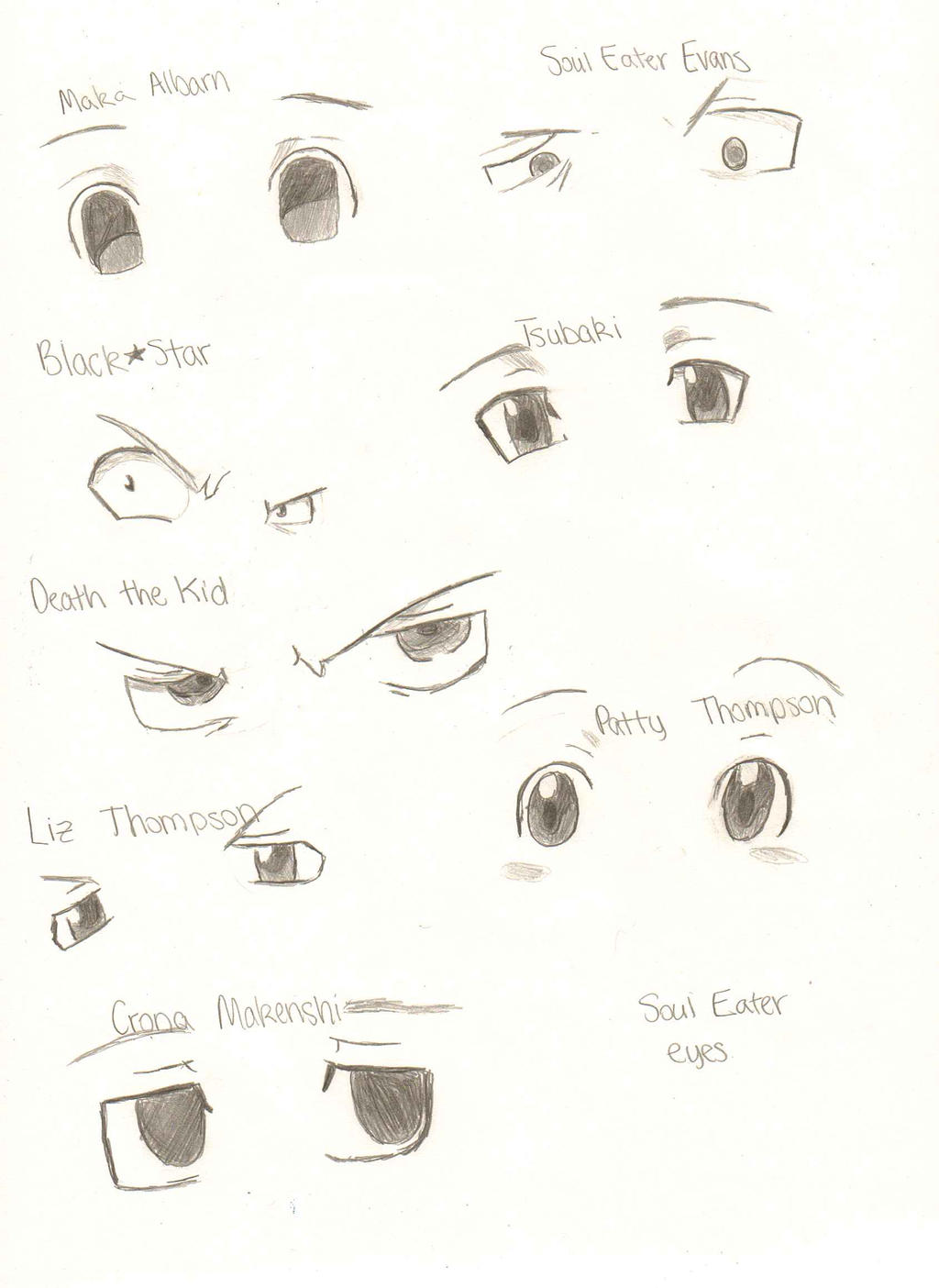 Soul Eater Eyes by RUNNINGWITHSCISSORS1