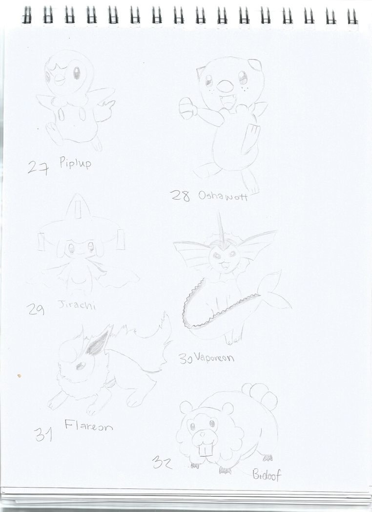 Pokemon 27-32 by RUNNINGWITHSCISSORS1