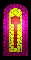 Hammerite stained-glass