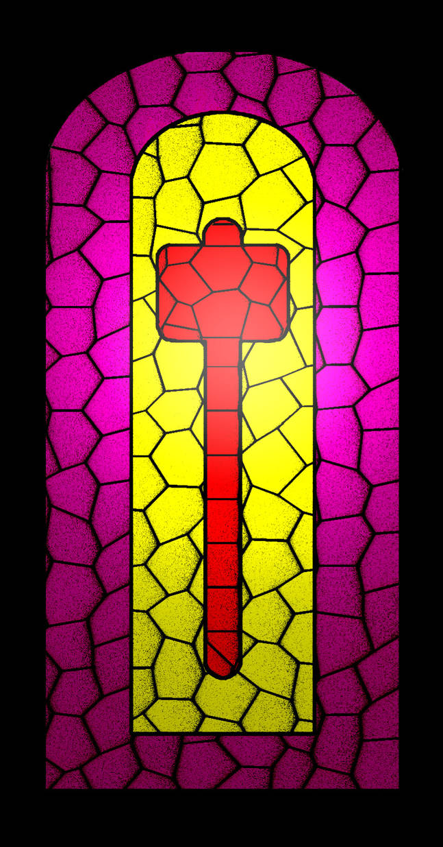 Hammerite stained-glass by KeeperHattori