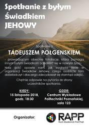 RAPP - Spotkanie z bylym swiadkiem Jehowy