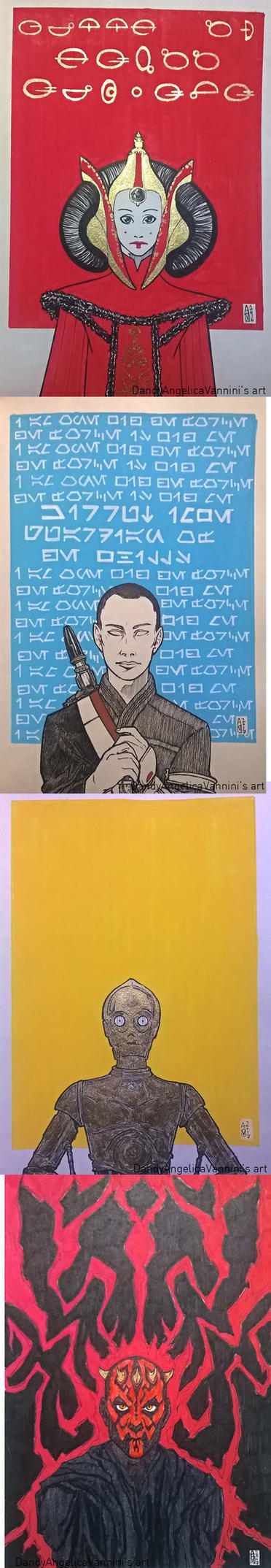 Star Wars Portraits, (1-4) by DandyAngelicaVannini