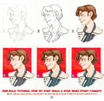 Han Solo, Corellian Style, Tutorial step by step by DandyAngelicaVannini