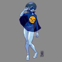 Day 52 - Blue Girl