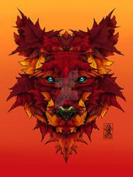 Autumn Spirit Wolf