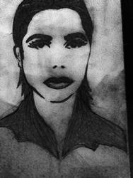 PJ Harvey drawing by MaryAquarius