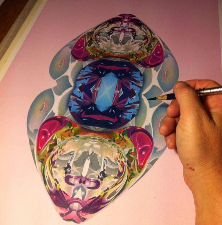 Sapphire-progress by redeye-art