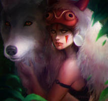 Princess Mononoke by Loputon