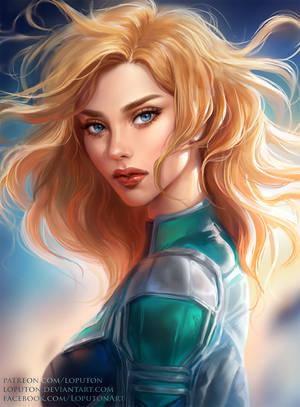 Captain Marvel by Loputon