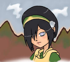 Toph and Mountains by koalaassassin