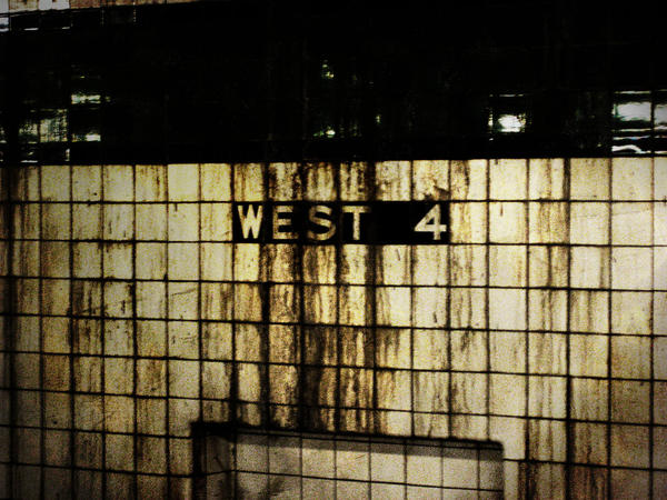 West 4th Subway Stop Grunge