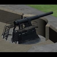 Coastal Gun by MikeDBoing