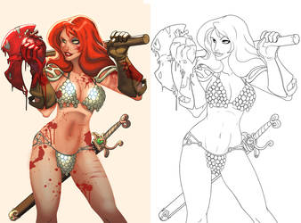 sonja before and after by atombasher