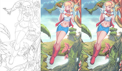 supergirl step by step by atombasher