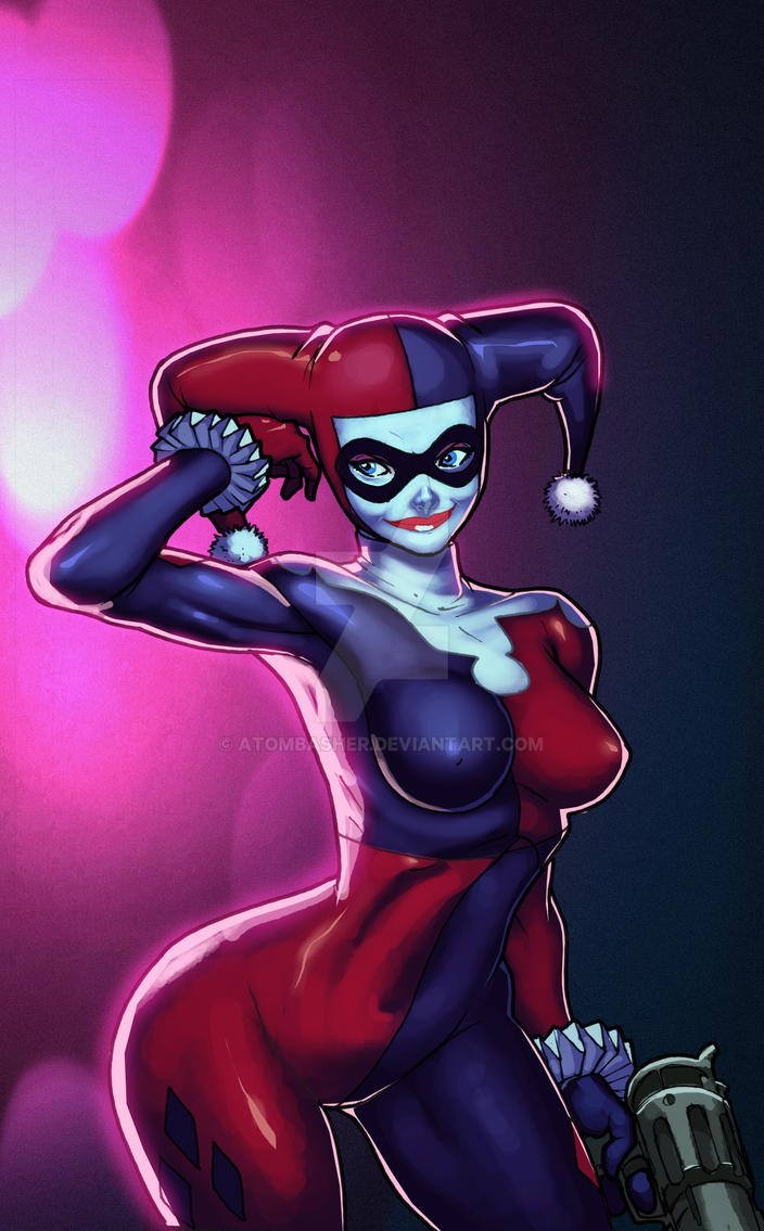 Harley Quinn by raheight by atombasher