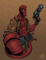 another Hellboy by atombasher