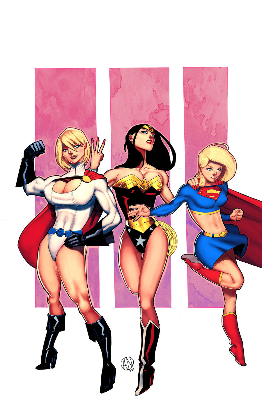 dc trio by atombasher