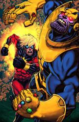 Thanos, você acabou de ser eliminado por atombasher