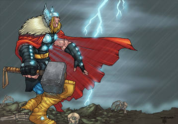 Thor colorido.  por atombasher