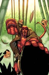 Hellboy obtendo alguma cabeça por atombasher