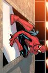 Spider man chillin