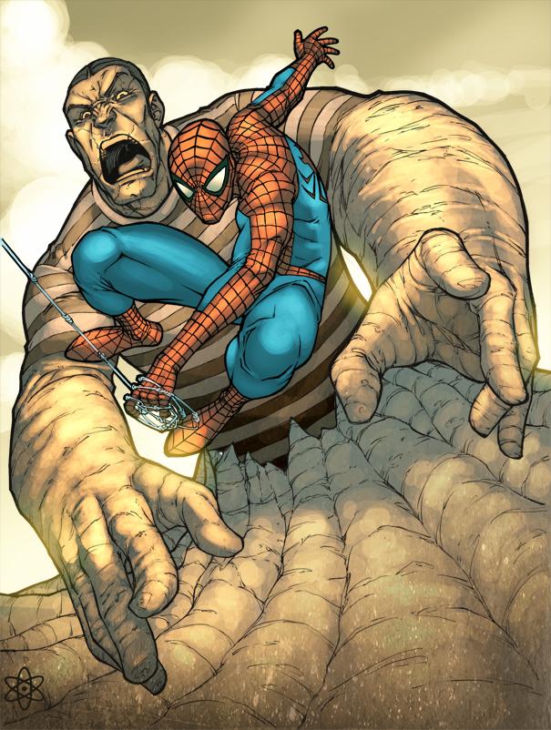 Spider vs Sandman by atombasher on DeviantArt