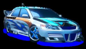 Mitsubishi Lancer Evolution IX Front Vector