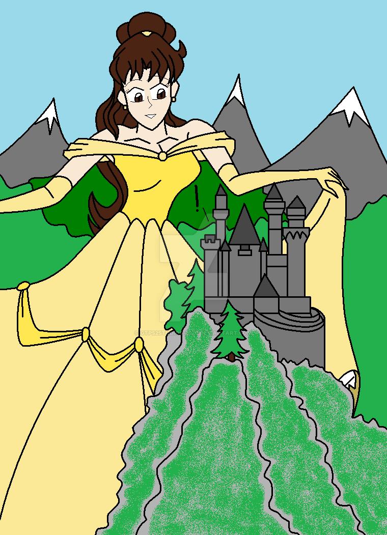 Giantess Tinkerbell in belle's gigantic greetinggtps2-gts on deviantart