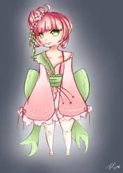 Sakura Chibi (Fanart OC by Namine Art [FB]) by Blibs1991