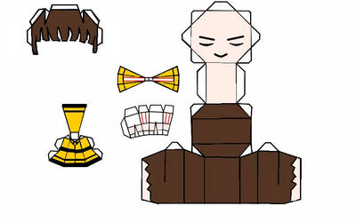 Yanagi Renji papercraft by Nekkohime
