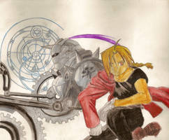 The Elric brothers by Nekkohime