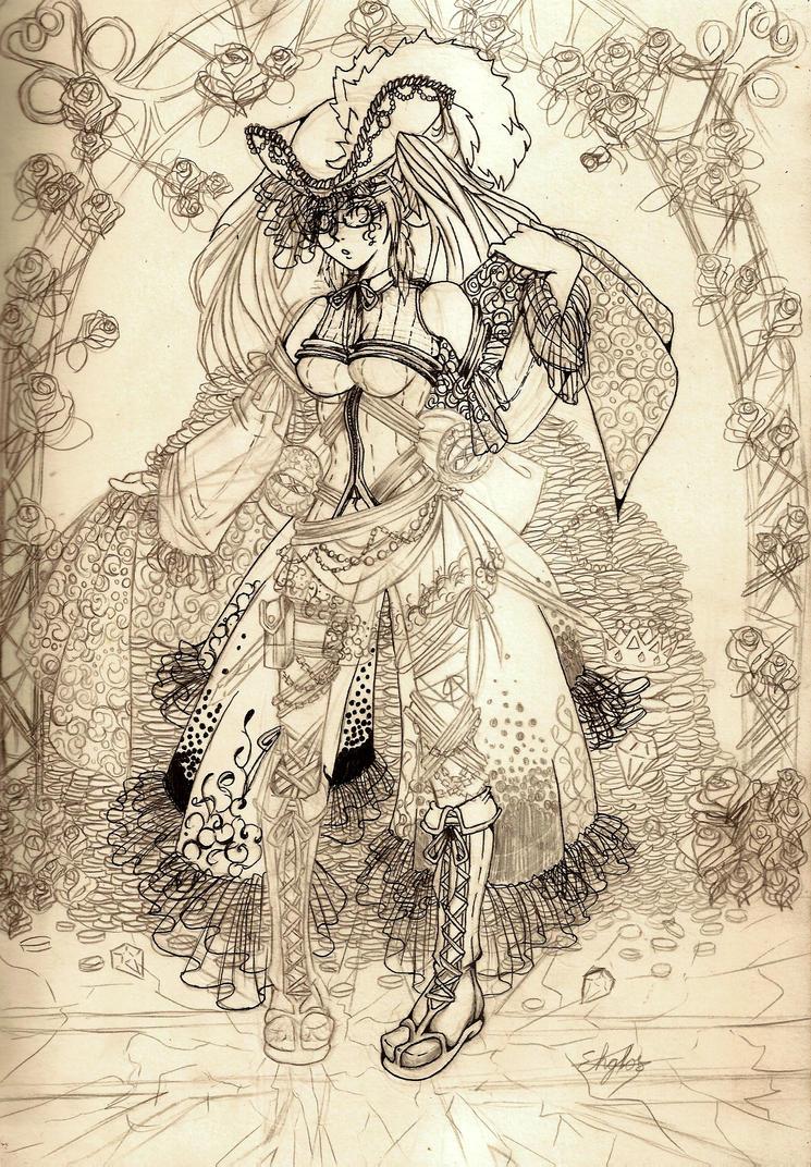 Female pirate drawing - photo#16