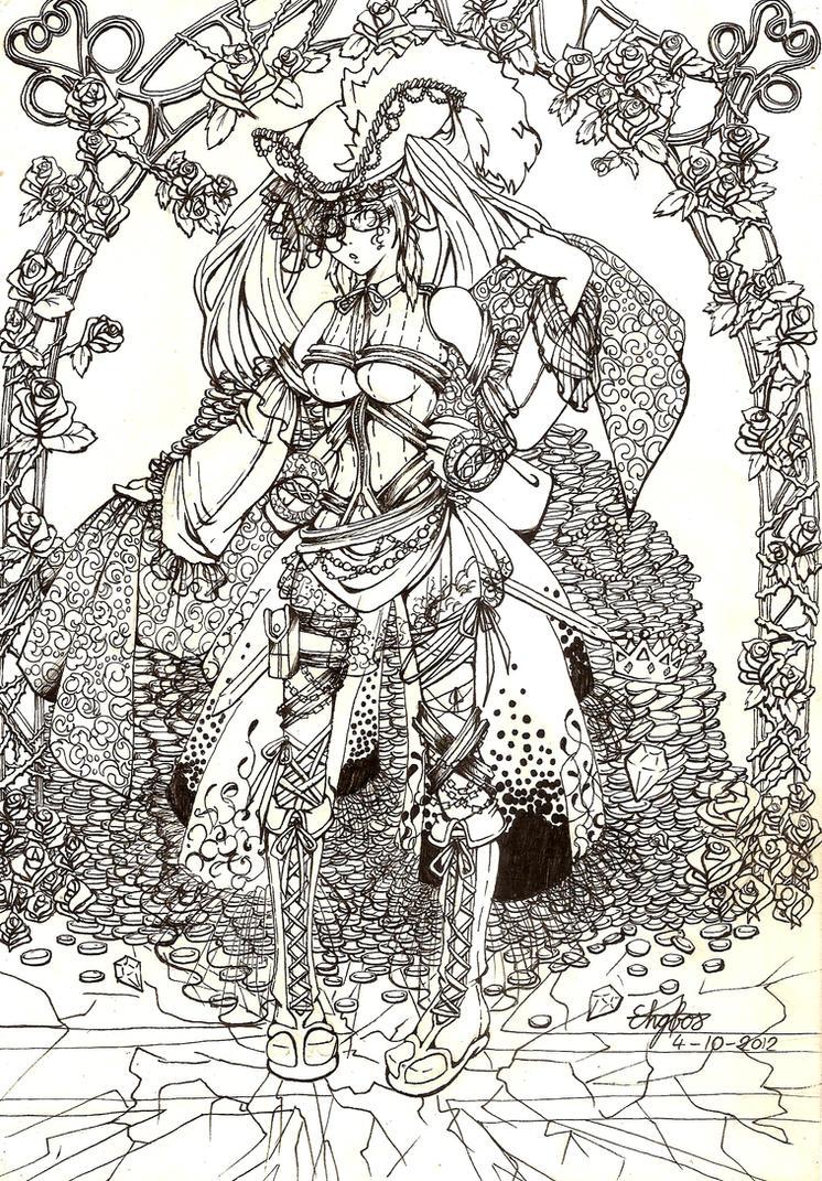 Female pirate drawing - photo#35