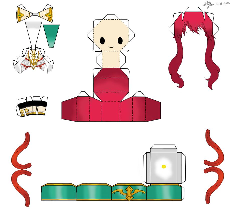 Magi The Labyrinth Of Magic Papercraft Kouha By Nekkohime