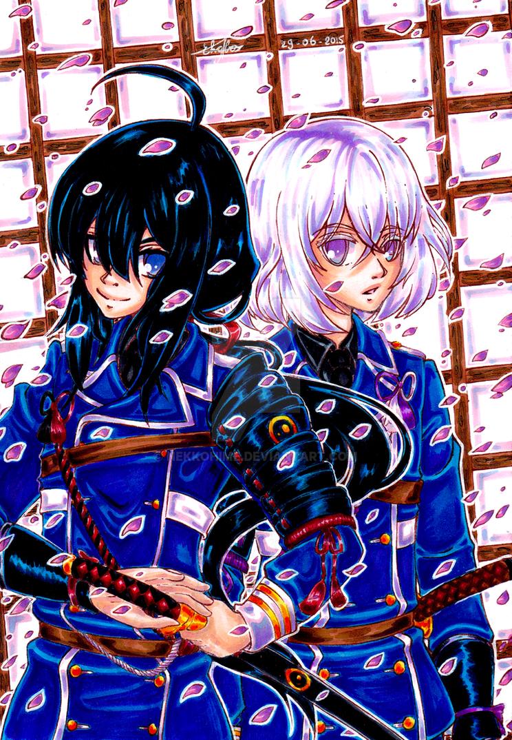 Namazuo and Honebami Toushirou by Nekkohime