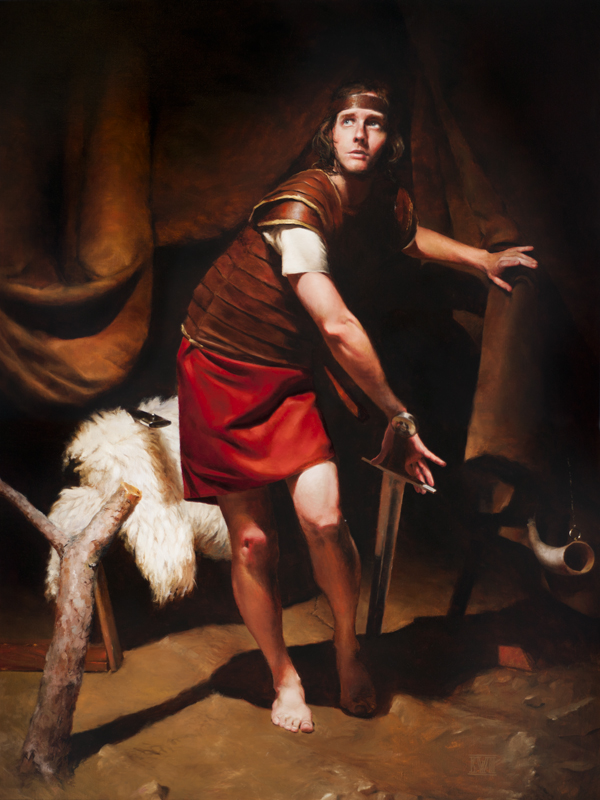 David in Saul's Armor by evincent