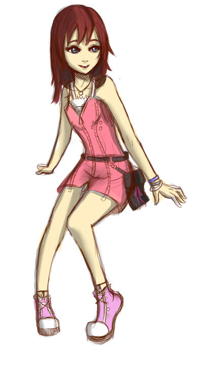 KingdomHearts Kairi by lorelei-melodei