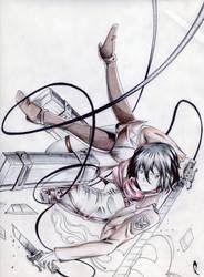 Mikasa ackerman by alduin46