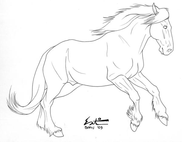 Shire Paard Kleurplaat Free Draft Lineart By Green Ermine On Deviantart