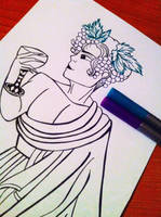 WIP Dionysos by LHLadyHalloween
