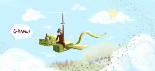 Dragon Rider by areKu54