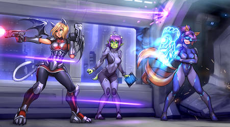 OC commission: Neko, Nalica and Marisha