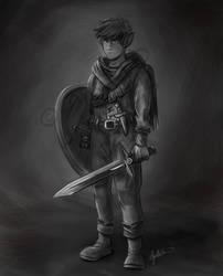 Elf Dude Concept Art (B/W)